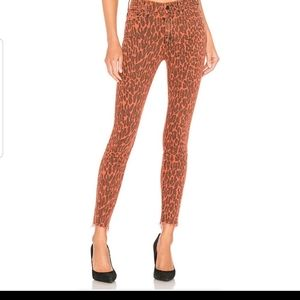 Mother high waisted look ankle animal leopard rare